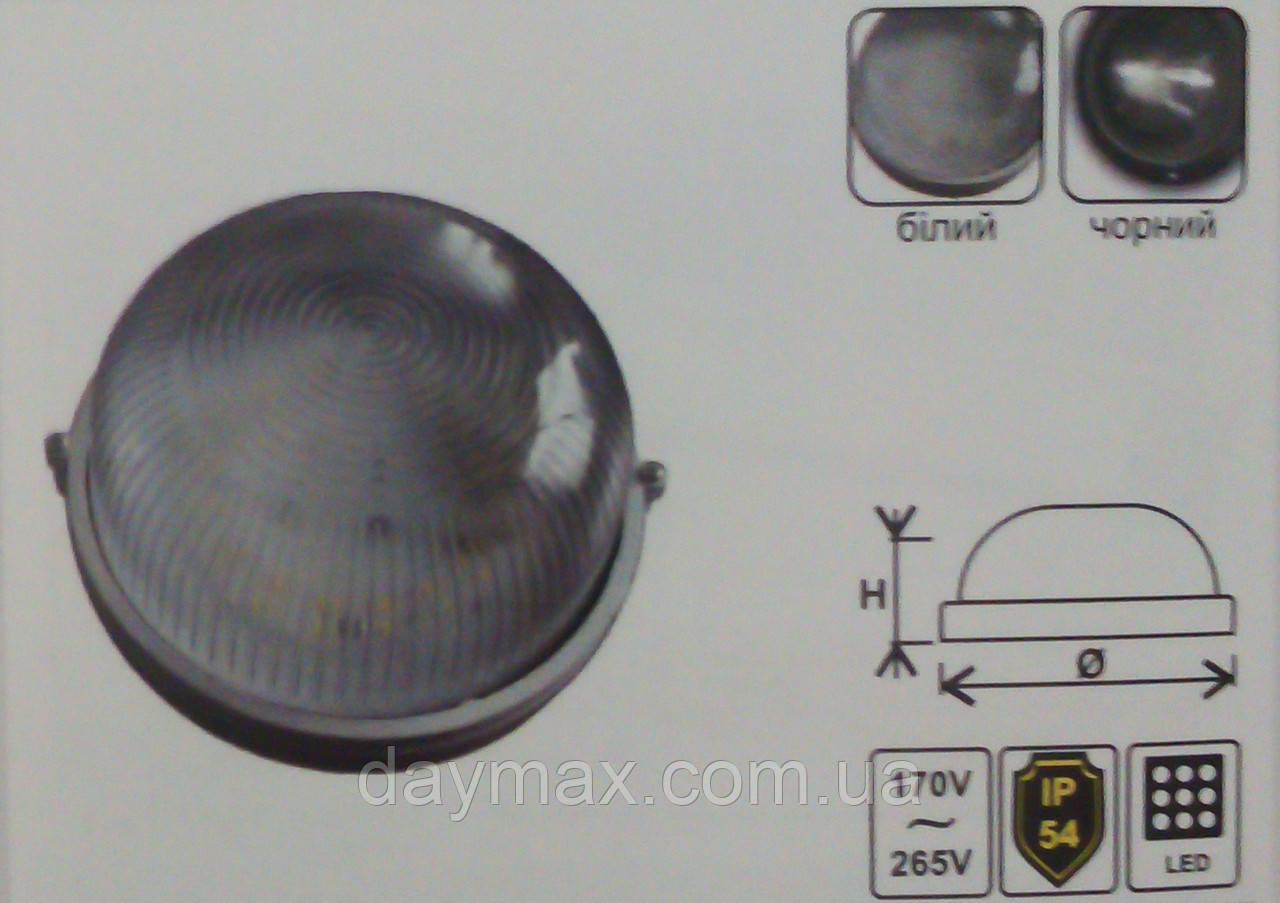 Светодиодный LED светильник ЖКХ Lemanso,накладной круг 12w (чёрный/белый)