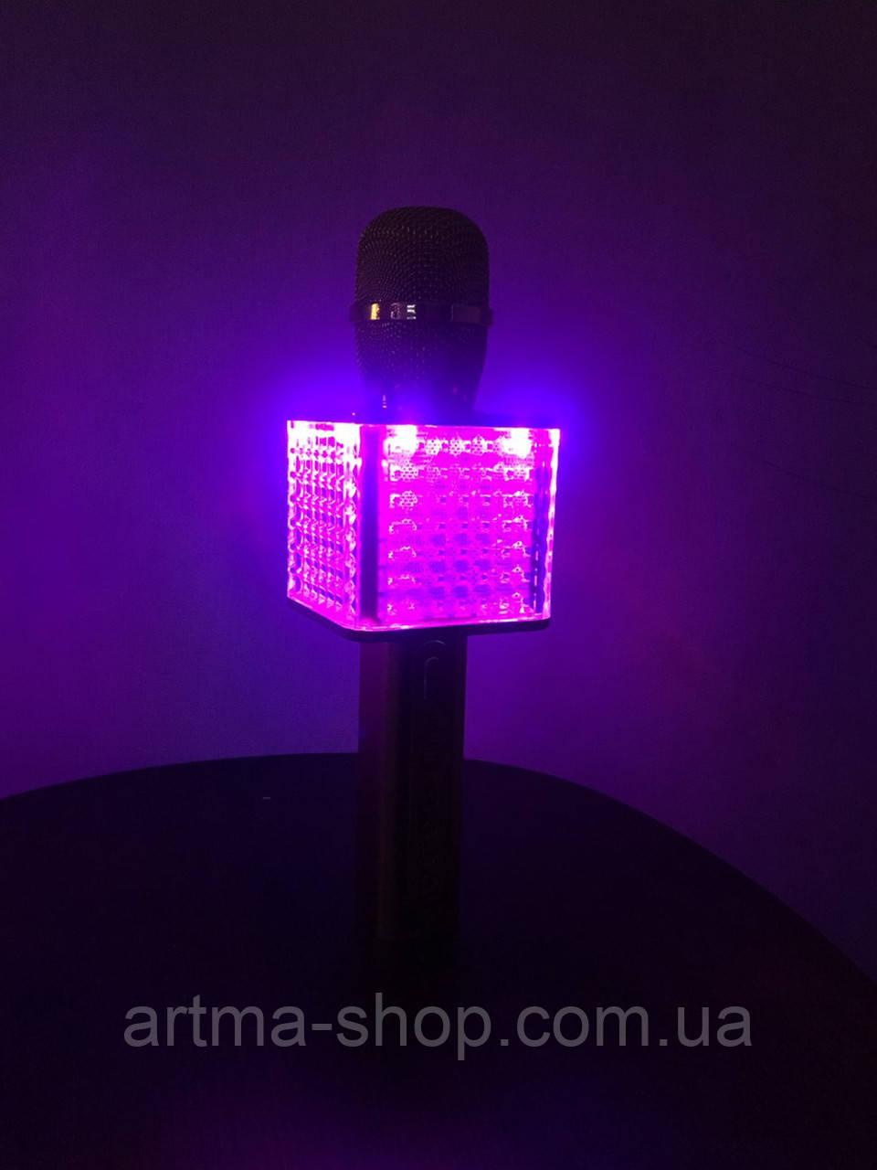 Микрофон Magic Karaoke Q9 12W Светомузыка 3D звук + запись звука + USB