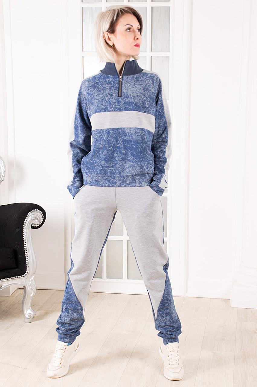 Женский спортивный костюм голубой Stylish fashion размер 40-44