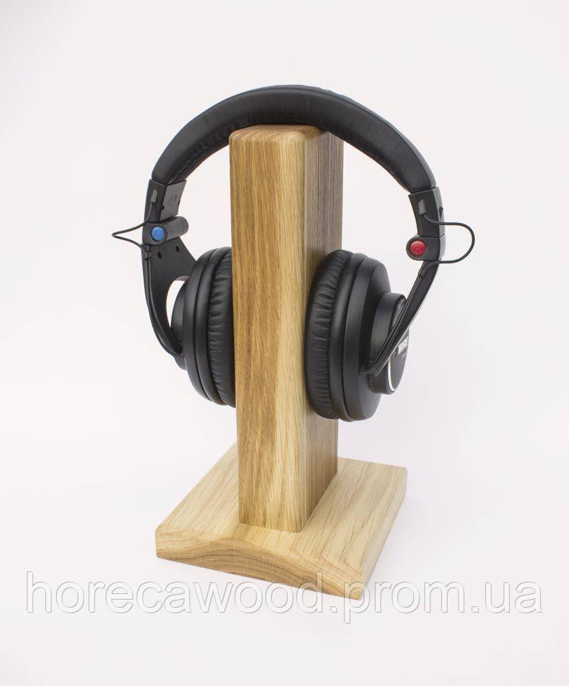 Подставка для наушников деревянная