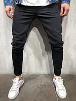 мужские джинсы черные потертые