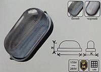 Светодиодный LED светильник ЖКХ Lemanso,накладной овал 12w (чёрный/белый)