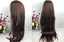 🙎 Макси длинный натуральный парик тёмного русый , фото 4
