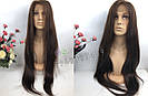 🙎 Макси длинный натуральный парик тёмного русый , фото 7