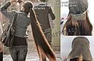 🙎 Макси длинный натуральный парик тёмного русый , фото 8