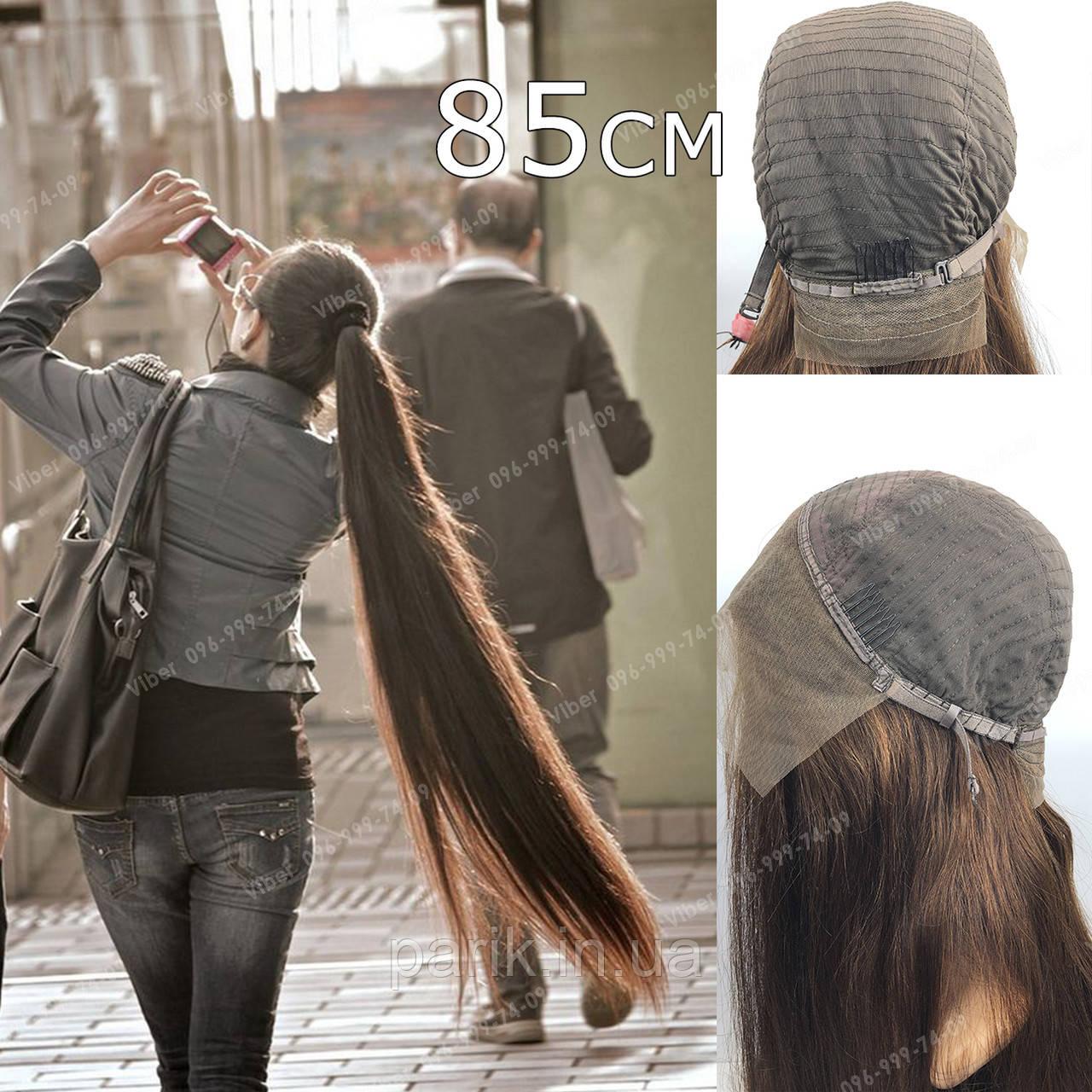 🙎 Макси длинный натуральный парик тёмного русый