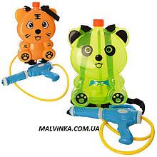 Водяний автомат арт 3090 з балоном на плечі, 2 види, в кульку, 36-38-5 см