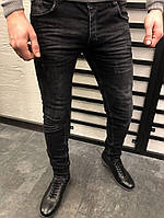 мужские джинсы черные зауженные