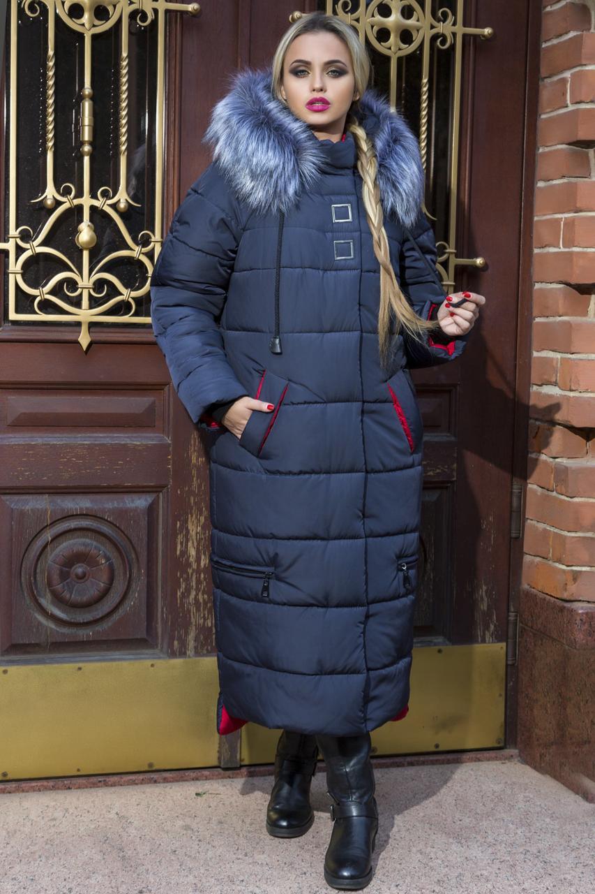 Зимняяудлиненная курткаBarbara Большие  размеры 48,50, 52,54,56,58