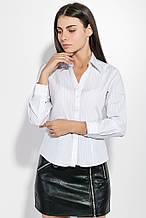 Блузка, рубашка женская  на пуговицах 287V001-3 (Бело-синий)
