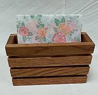 Салфетница деревянная 145 х 55 х 90 мм, фото 1