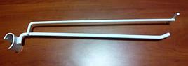 Кронштейны крючки металлические для на овальную перекладину 350мм с ценникодержателем