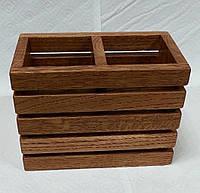 Подставка для столовых приборов из дуба, фото 1