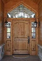 Двери входные с декоративным стеклом