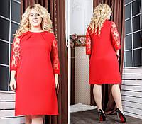 Платье Plus Size, артикул 149, цвет красный