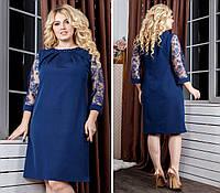 Платье Plus Size, артикул 149, цвет темно синий, фото 1