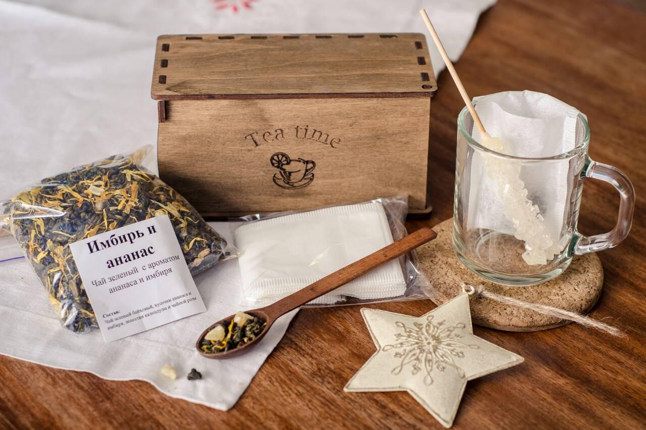 """Подарочный набор чая """"Имбирь-ананас"""""""