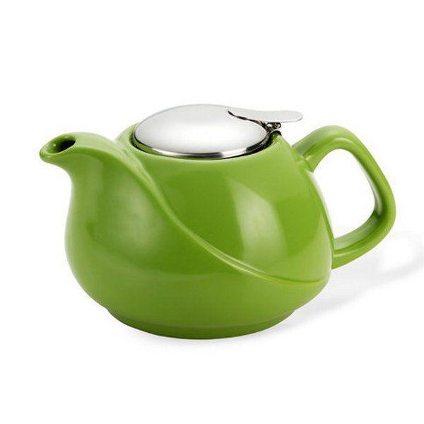 Заварочный чайник Fissman с ситечком 750 мл Зеленый (9197)