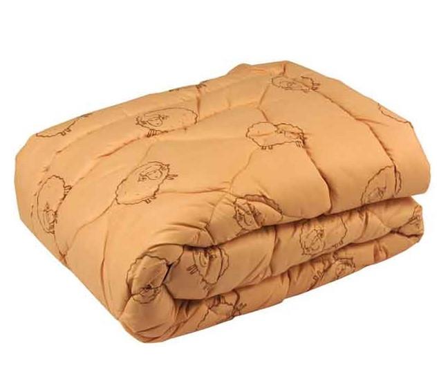 Одеяло Руно шерстяное двуспальное евро  200x220 см Комфорт плюс 450г/м.кв. (322.52ШУ)