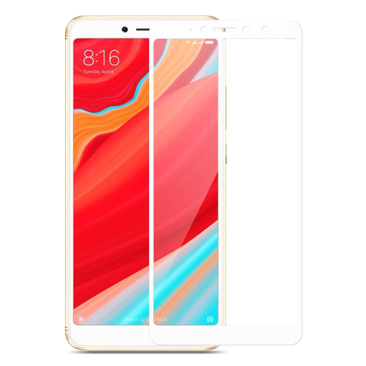 Защитное стекло Florence для Xiaomi Redmi 6A, Redmi 6 Full Cover White (full glue)