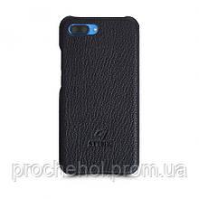 Кожаная накладка Stenk Cover для Huawei Honor 10 Черный