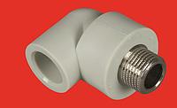 Колено 25х1/2 с металлической резьбой наружной  FV-PLAST
