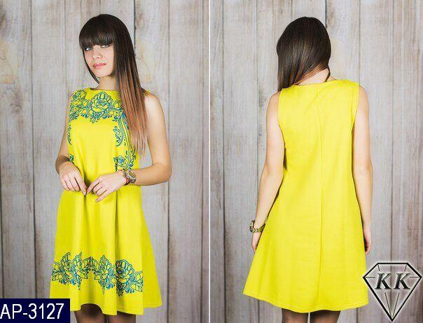 Платье Женское Размер:  42, 44, 46  Ткань Фактурный трикотаж с накаткой