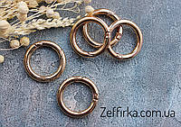 Кольцо - карабин золото, 25мм