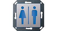 Светодиодный указатель для ориент ии СИД Туалет, Ж, М Gira E22 алюминий Gira (2791203)
