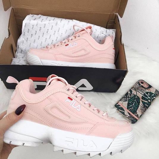 Женские кроссовки в стиле Fila Disruptor II Pink White  продажа ... 7f558409f6fec