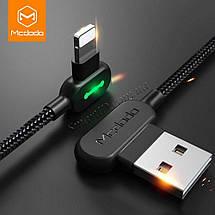 Кабель Lightning Mcdodo с двусторонним USB разъемом LED индикацией для зарядки и передачи данных (Черный), фото 2