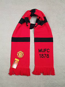 Зимний шарф ФК Манчестер Юнайтед красный