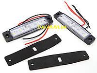 Автомобильный светодиодный LED габаритный фонарь 12В белый, фото 1