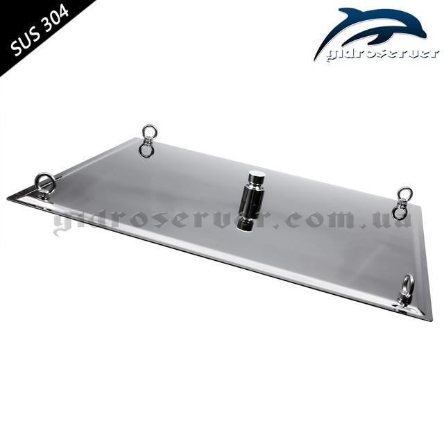 Верхняя лейка для душевой системы LN-501 квадратной формы с размерами 500 на 500 мм.