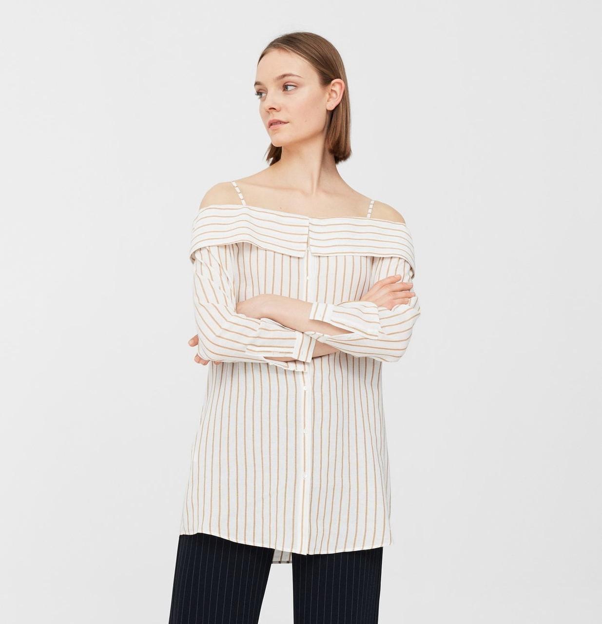 Рубашка женская Mango размер 50-52 RU с открытыми плечами