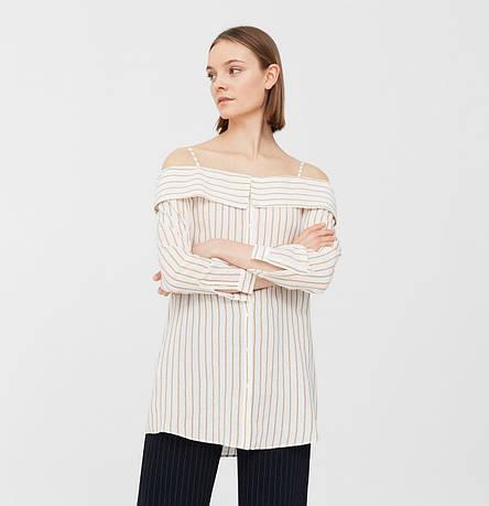 Рубашка женская Mango размер 50-52 RU с открытыми плечами, фото 2