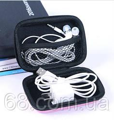 Маленькая сумка органайзер для проводов кабелей зарядного косметики (коралловый цвет)