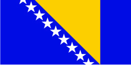 Флаг Боснии и Герцеговины 0,9х1,8 м. атлас