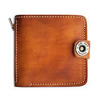 Кошелек, бумажник, портмоне мужской Gato Negro Jeans Orange ручной работы