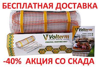 Теплый пол нагревательный двужильный кабель VOLTERM HR12 140 0,9  м² 1,2 м² 140 W, 12 м монтаж в плиточный кле