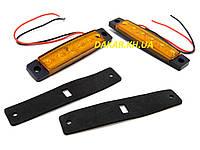 Автомобильный светодиодный LED габаритный фонарь 12В желтый, фото 1