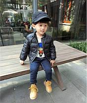 Куртка детская демисезонная на мальчика  весна-осень  черная 130 размер, фото 2