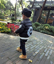 Куртка детская демисезонная на мальчика  весна-осень  черная 130 размер, фото 3