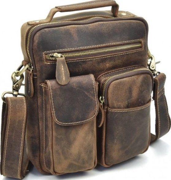 0c6f74a8762 Сумка мужская Vintage 14640 кожаная коричневая — только качественная ...