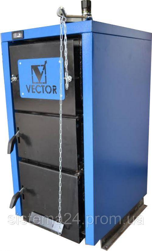 Котел твердотопливный VECTOR 12 кВт