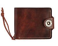 Кошелек, бумажник, портмоне мужской Gato Negro Four Brown ручной работы