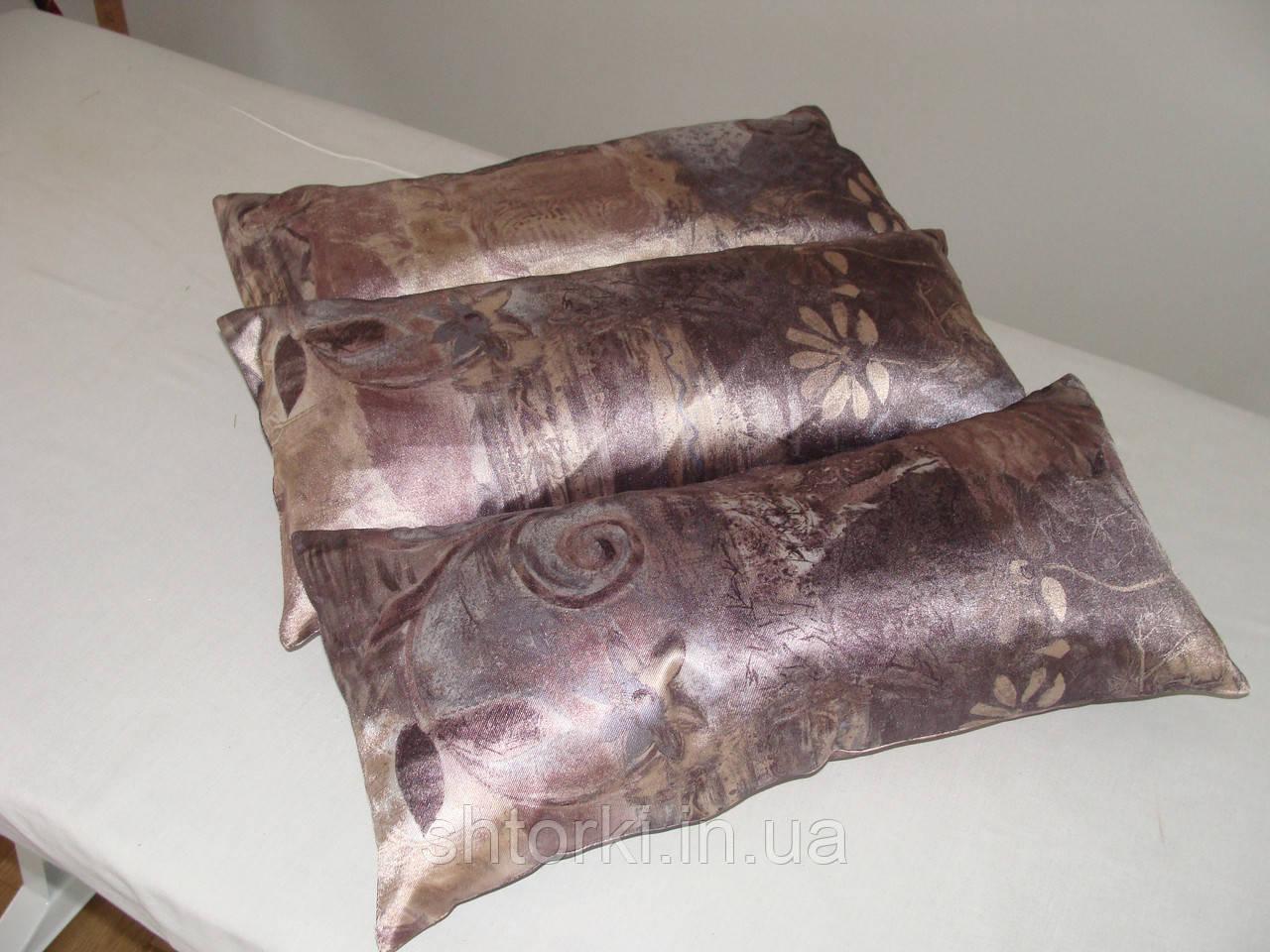 Комплект подушек Бежевао-серые 3шт