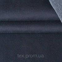 Трикотажное полотно трехнитка начес хб/пэ, темно-синий