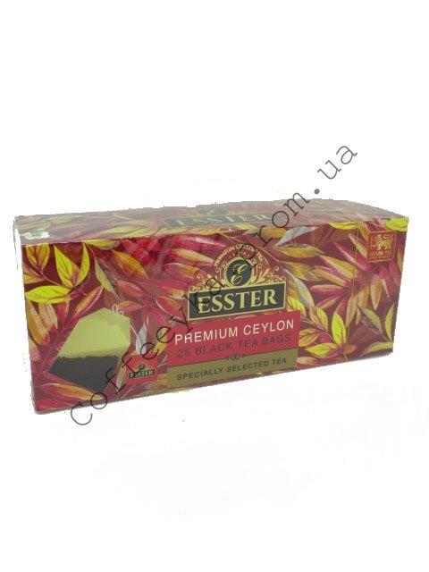 Чай Чёрный  ESSTER  в пакетиках 25 шт.