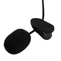 Микрофон петличка 3,5 мм с клипсой (петличный микрофон) для камеры, фотоаппарата